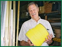 Tony Ellis in Building Supplies section, Tahsis BC